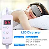 Heated Eye Mask for Blepharitis, Electric USB Cotton Eye Mask, Adjustable Temperature & Timer Control Massage Eyemask for Relieve Dry, Stress, Puffy Eyes