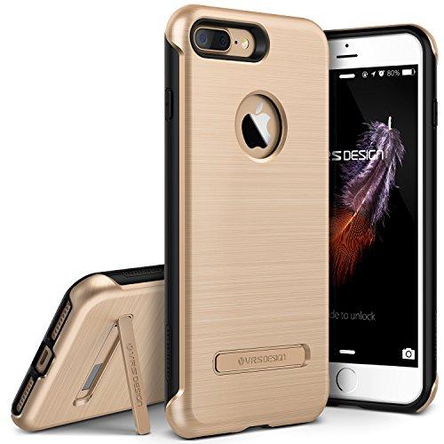 Schutzhülle für iPhone 7 Plus/8 Plus, VRS-Design [Duo Guard-Serie], strapazierfähig, Militärqualität, mit Metallständer, Champagner-Gold