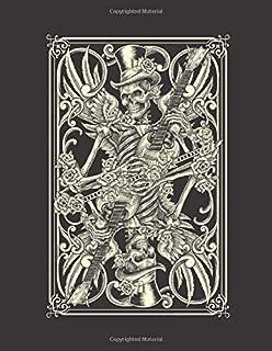 2020 Motorcycle Calendar and Planner For Bikers: Skeleton Guitar Player Motorcycle Biker Music Poker | December 2019 - December 2020 | 8.5 X 11