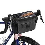 flintronic Bolsa de Manillar de Ciclismo, 6L Bolsa de Marco de Bicicleta de Gran Capacidad, con Soporte para Teléfono, para Bicicleta de Montaña MTB, Bicicleta de Carretera