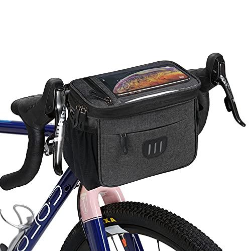 Flintronic Borsa Telaio Bici,Impermeabile Borsa da Manubrio per Biciclette con Touchscreen,Borsa da Bici Impermeabile con Funzione Keep Warm/Cold