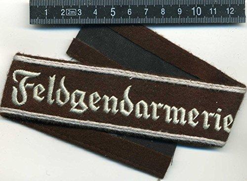 LAGERMAULWURF.de Ärmelband Feldgandarmerie Wehrmacht 2.Weltkrieg Uniformen -zubehör Repro !!
