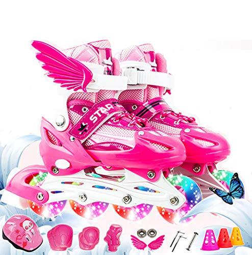 gengyouyuan Patín Infantil Traje Completo Flash Juego Completo de Rodillos Kates Patines Skate Skate la adultez Recta Fila Fila Capaz-por-Hombres y Mujeres