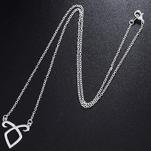 ERYHF Collar Collar de Huesos de Cadena de joyería Simple Instrumentos mortales Ciudad de Huesos Runas de Poder angelical Cazadores de Sombras Accesorios de película