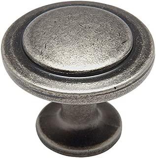 25 Pack - Cosmas 5560WN Weathered Nickel Cabinet Hardware Round Knob - 1-1/4