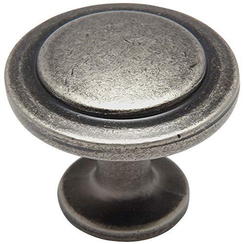 25 Pack - Cosmas 5560WN Weathered Nickel Cabinet Hardware Round Knob - 1-1/4 Diameter