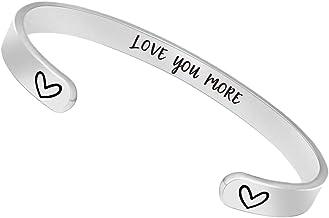 Friendship bracelet I Love You More bangle bracelet Sign language I love you Charm bracelet Monogram Personalized Bangle bracelet