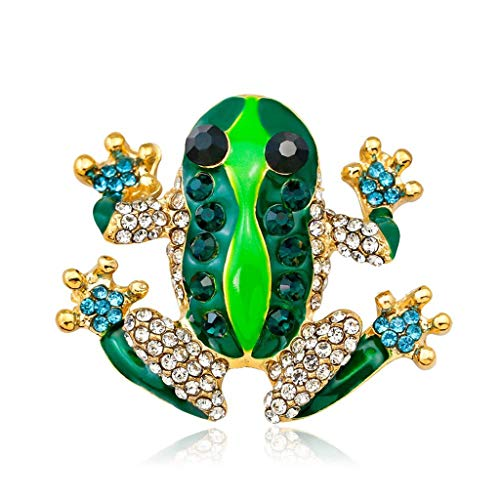 KLHHG Diamantes de imitación de la Rana Broche, Las señoras de la aleación de la Broche de Vestido Elegante de la decoración del Bolso de Accesorios Pin