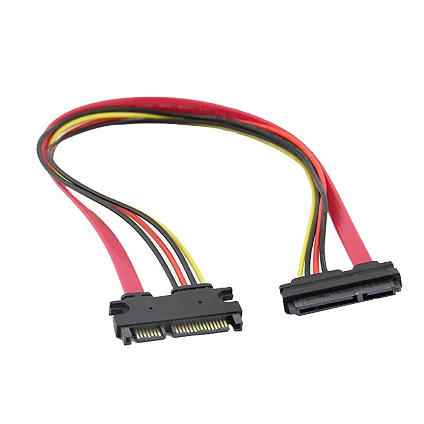 ??MChoice??30cm 15+7 Pin SATA HDD Extension Cable Data & Power Male to Female