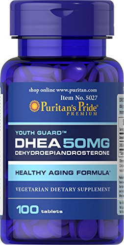 Puritans Pride Dhea 50 Mg Tablets, 50 Mg (100 Tabs) 100.0 Count