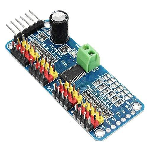 HUANRUOBAIHUO 16 Channel 12-bit PWM/Servo Driver-I2C interface PCA9685 module for arduino Robot Raspberry pi shield module servo shield 3D Printer Parts