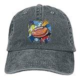 zhouyeT Graffiti Football Unisex Adjustable Casquette de Baseballs Denim Hats Cowboy Sport Outdoor