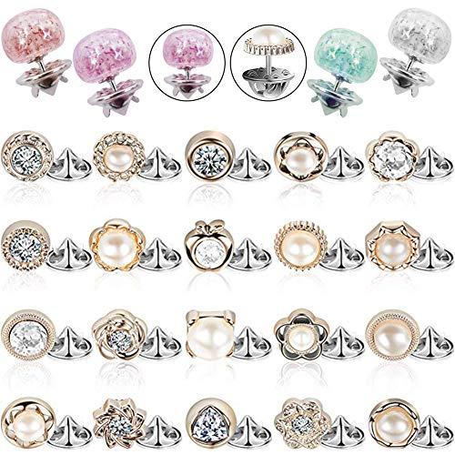 REYOK 28 Piezas Mujer Camisa Broche Botones Tapa Botón de Cierre Broche de Seguridad Botones para Ropa Suministros de Vestir