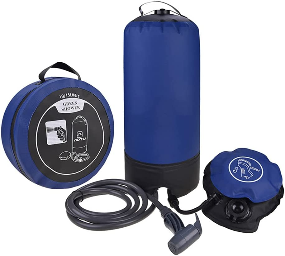 Excellence YGXS Portable store Outdoor Camping Shower Foot Pump with Lightweight
