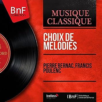 Choix de mélodies (Mono Version)
