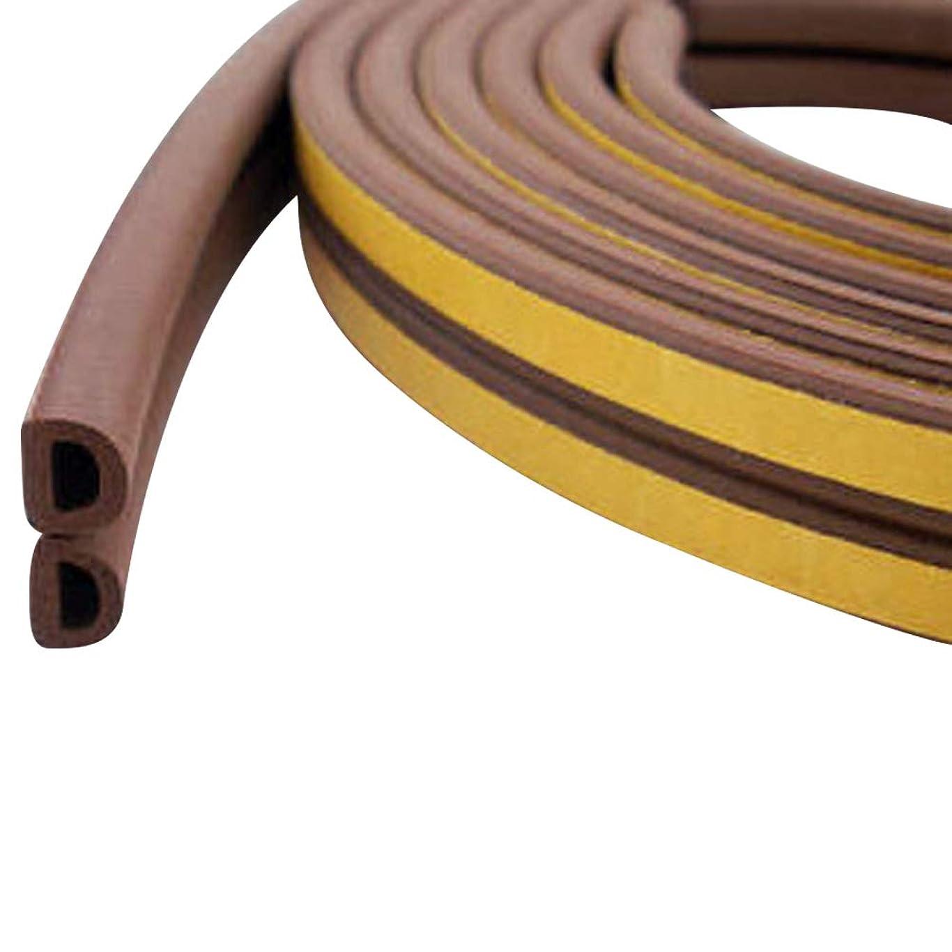 アンテナ明らかに変化するYideaHome 隙間テープ スキ用テープ 隙間風防止 気密 窓 ドア 玄関 強力接着剤 防音 防風 防虫D型 1本入 3色選べる 5M