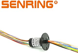 SENRING Mini Slip Ring Electric Signal Transmission Rotary Joint 12.5mm 18 Wires 1.5Amp 150RPM 240VDC/VAC for monitor Robotic (18 Wire 1.5A)