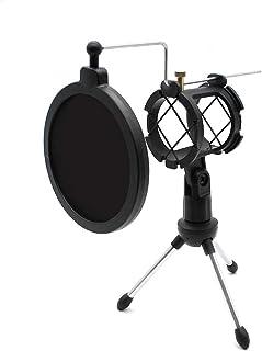 D-Orange Soporte de Trípode Para Micrófono de Escritorio, Soportes Ajustable, Trípode Plegable Para Micrófono con Filtro de Pop (color negro)