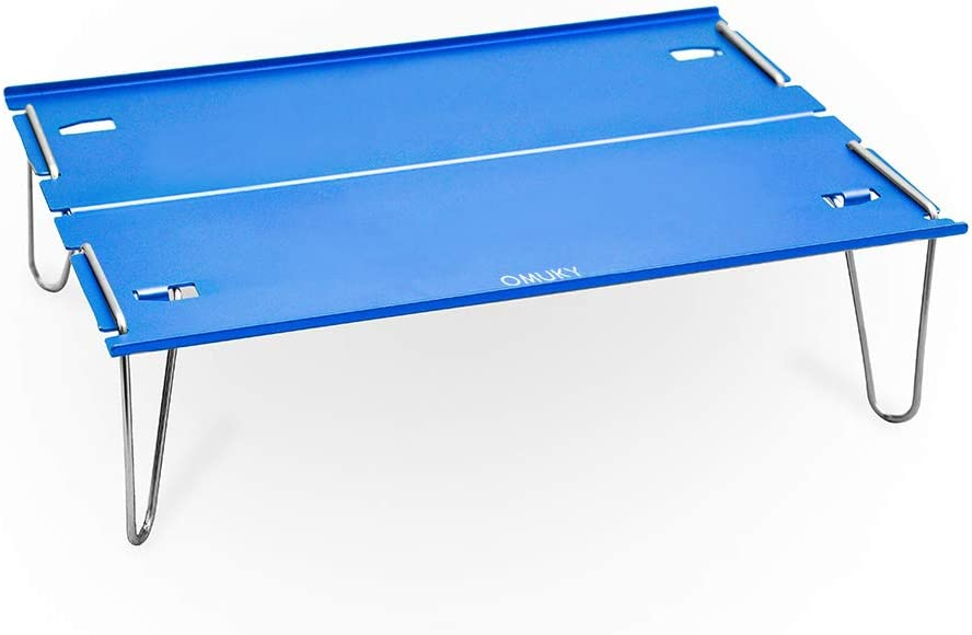 OMUKY Folding Table Camping Mini Table Folding Aluminum Alloy Compact Lightweight Mobile Table