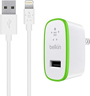 Belkin F8J125TT04-WHT iPad and iPhone 5 Charger with ChargeSync Cable (12 watt/2.4 Amp)