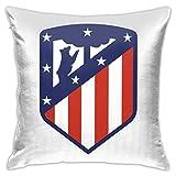 Fundas para cojines decorativos Atletico-Madrid Fundas para cojines 18 x 18 pulgadas para sofá cama coche funda suave