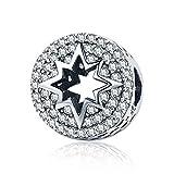 Dxlts Sternenlicht Charm Perle für Armbänder Charms 925 Sterling Silber passt Armband Halskette...