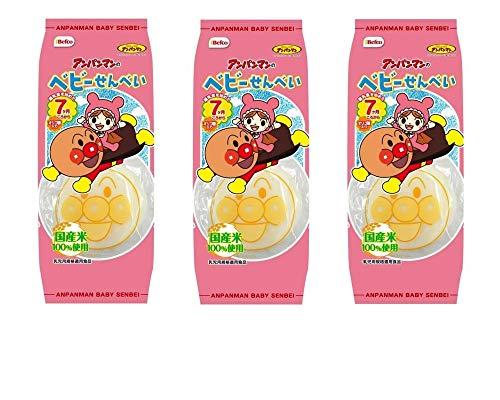 【まとめ買い】栗山米菓 アンパンマンのベビーせんべい 14枚 × 3袋