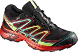 Salomon Wings Flyte 2 GTX, Zapatillas de Trail Running Hombre, Negro (Black/Fiery Red/Red Dalhia 000), 43 1/3 EU