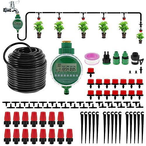 2021年 散水タイマー 自動水やり器 じょうろ 15鉢対応可能 節水 灌漑システム 芝生向け 木々庭園用 鉢植え 水を撒く 草花 散水 盆栽 野菜