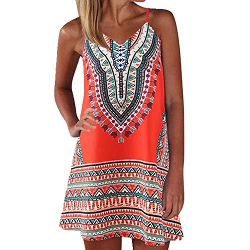 U/A vestido de verano para mujer de impresión de bloque de color sin mangas vestidos mini vestido de verano