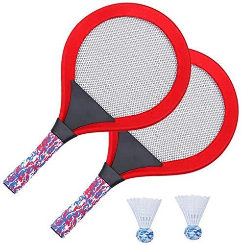RENFEIYUAN 1 Set Plastik Tennisschläger Spielzeug mit LED-Licht Outdoor-Sport-Tennis-Racquet-Spiel Set Outdoor-Aktivitäten Spielzeug Badminton Sets