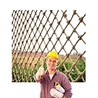 転倒防止ネットロープネット子供用ペットセーフティネット, ジュート麻ひ文字列メッシュネッティング天然麻ロープネット装飾ジュートネッティング、オウム猫傷やクライミングネット、ポーチネッティングガーデンフェンスネット天井を飾るネット(6ミリメートルロープ、10センチメートルホール) (Size : 0.5×3m)
