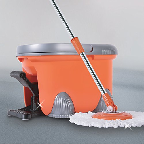Arevo Rocket Wet Spin Mop and Bucket with Foot Operated Easy...