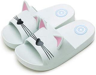 Rojeam Lindas Zapatillas de Gato para Mujeres, Hombres, niños, Verano, Zapatillas de baño, Sandalias, toboganes de Playa, ...