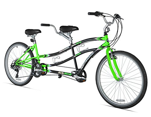 Northwoods Dual Drive Tandem Bike, 26-Inch, Green/Black