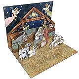 Tarjetas de Navidad LANG Nativity Pop-Up (2005102)
