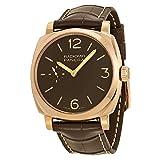 Panerai PAM00513del Hombre Radiomir Pantalla analógica mecánica Mano Viento Reloj, Color marrón