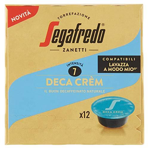 Segafredo 12 Capsule Compatibili A Modo Mio, Linea Le Classiche Gusto Deca Crèm, il Buon Decaffeinato Naturale, 1 Astuccio da 12 Capsule
