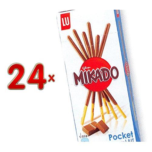 LU Mikado Pocket Chocolat au lait 24 x 39g Packung (Mikado mit Vollmilch-Schokolade)