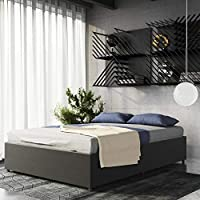 DHP Maven Platform Bed With Under Storage (Queen / Gray Linen)