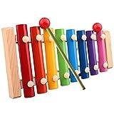 Jzhen Xylophone Jouets Knock Piano, Instrument de Musique Xylophone en Bois pour les Enfants