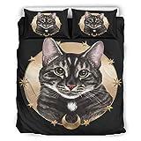 chvcodd Colcha Cat Soft Categorías Estilo Europeo Color Oscuro Cama Doble Blanco 264,2 x 228,6 cm