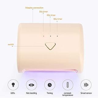 Lámpara de uñas LED Gel Profesional UV Esmalte de uñas lámpara eficiente secador de uñas profesional con Smart AutoSensing de curado ultrarrápido conveniencia Segura 9W mini portátil de la fuente de l