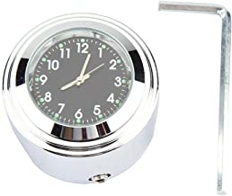 "Handlebar Mount Watch Precise Time Keeping Dial Clock with Install Kit 22mm, 25mm Fit for 7/8"" 1"" Motorcycle Handlebar (Bl..."