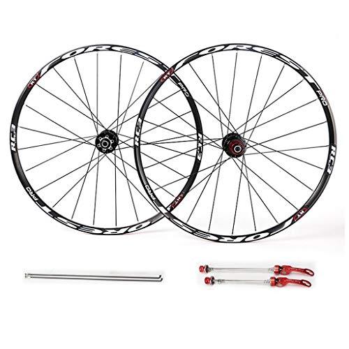 MZPWJD Ruedas de ciclismo 26 27.5 pulgadas MTB bicicleta llanta conjunto, ruedas par freno rueda disco 7 8 9 10 11 velocidad rodamientos sellado cubo (color: B -blanco, tamaño: 27.5 pulgadas)
