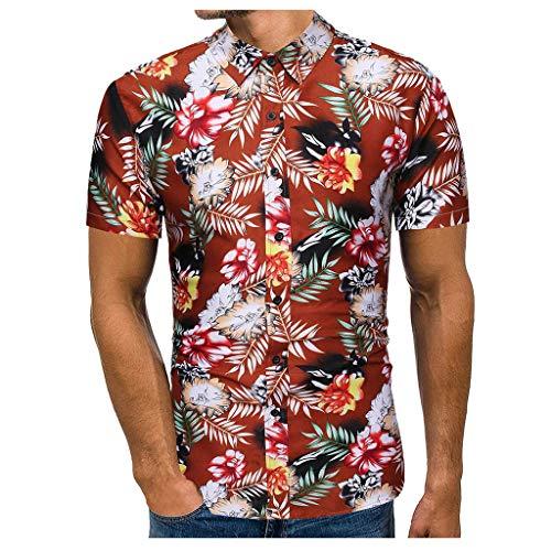Camisa Hawaiana para Hombre Mode Impreso Funny Playa Verano Camisa Casual Manga Corta Camisas Elegante Transpirable Informal de Hawaii T-Shirt Camiseta