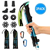 Barwa Nordic Walking Trekking Poles with Quick Lock System, Folding, Collapsible, Ultralight