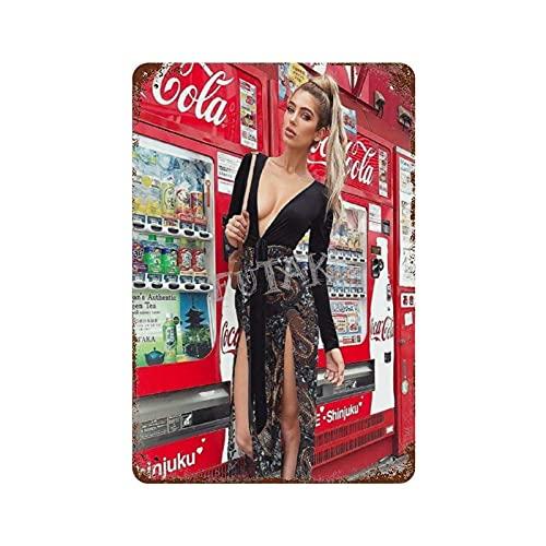 XREE Coca Cola Sexy Strümpfe 1 Art Blechschild Vintage Wohnaccessoires displate Blechschilder Retro Metallschilder Eisenmalerei rostiges Poster 30 x 40 cm