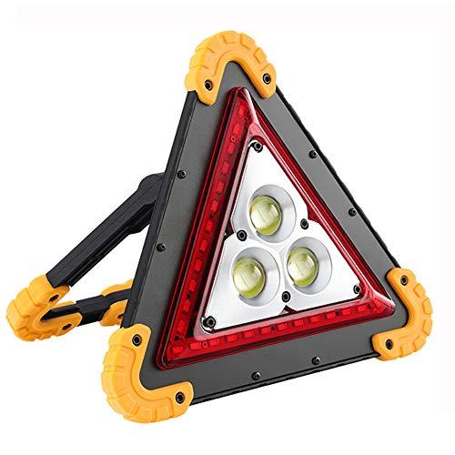 WKbinggo 投光器 LED ワークライト 30W COB 車警告灯 三角停止表示板 赤 警告灯 作業灯 USB充電式 折り畳み...