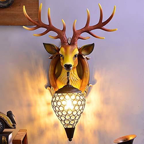 YDZM Wandlampe Geweih Wandlampe Umweltfreundliche Harz Wandlampe Kreative Schlafzimmer Wohnzimmer Hintergrund Wanddekoration Wandlampe Innenbeleuchtung